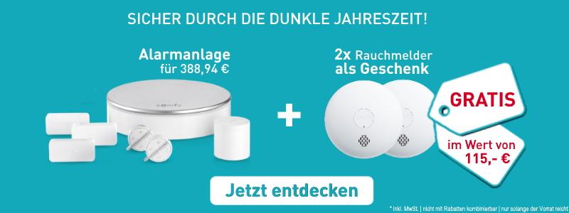 Home Alarm + 2x Rauchmelder
